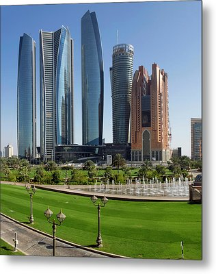 Buildings Along Corniche Road, Al Metal Print by Panoramic Images