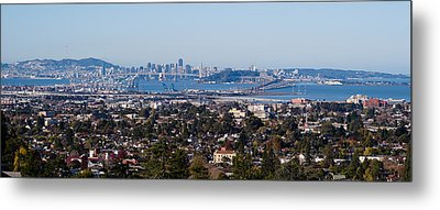 Buildings In A City, Oakland, San Metal Print by Panoramic Images