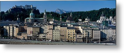 Buildings In A City With A Fortress Metal Print by Panoramic Images