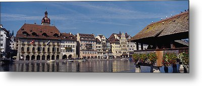 Buildings On The Waterfront, Lucerne Metal Print by Panoramic Images