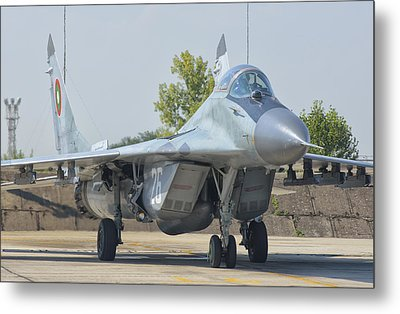 Bulgarian Air Force Mig-29 Metal Print by Giovanni Colla