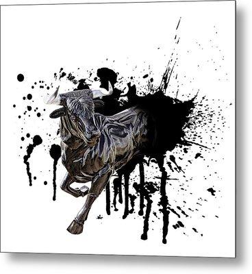 Bull Breakout Metal Print by Daniel Hagerman