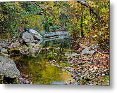 Bull Creek In The Fall Metal Print by Mark Weaver