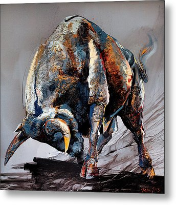 Bull Fight Metal Print by Dragan Petrovic Pavle