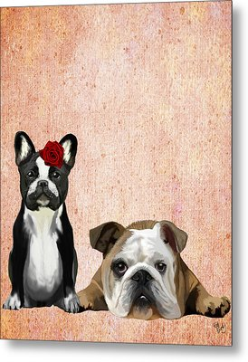 Bulldogs French And English Metal Print by Kelly McLaughlan
