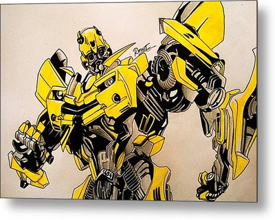 Bumblebee Transformers Metal Print by Rohit Bhattacharya