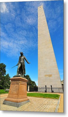 Bunker Hill Monument Metal Print by Catherine Reusch  Daley