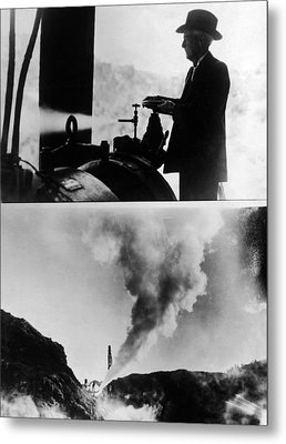 Burbank And The Sonoma Geysers Metal Print by Underwood Archives