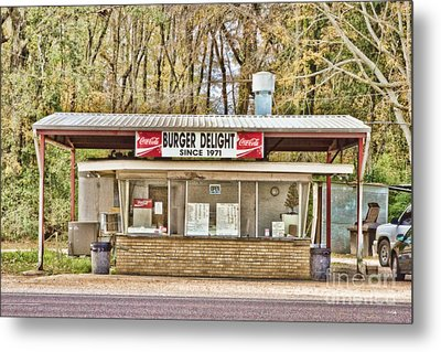 Burger Delight Metal Print by Scott Pellegrin