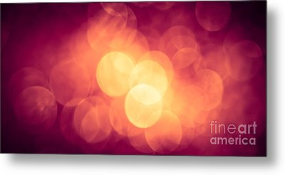 Burning Bokeh Metal Print by Jan Bickerton
