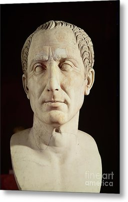 Bust Of Julius Caesar Metal Print by Anonymous