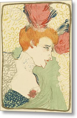 Bust Of Mlle. Marcelle Lender Metal Print by Toulouse-Lautrec