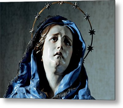 Bust Of Painful Virgin Metal Print by Francisco Salzillo