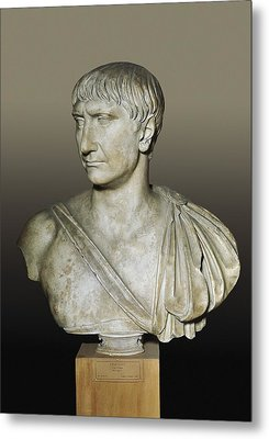 Bust Of The Emperor Trajan. 2nd C Metal Print by Everett