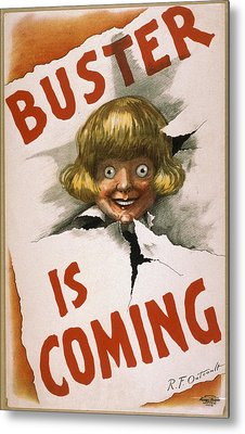 Buster Is Coming Metal Print by Aged Pixel