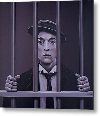 Buster Keaton Painting Metal Print by Paul Meijering