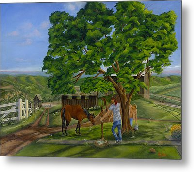 Buster's Retreat Metal Print by William Allen