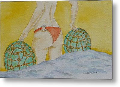 Butt And  Bouys Metal Print by Charles  Daley