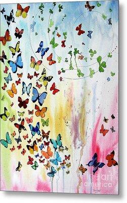 Butterflies Metal Print by Tom Riggs