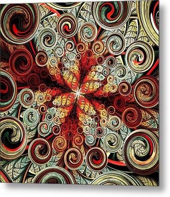 Butterfly And Bubbles Metal Print by Anastasiya Malakhova