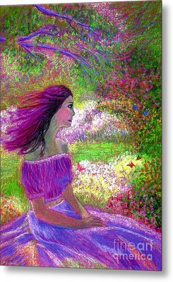 Butterfly Breezes Metal Print by Jane Small