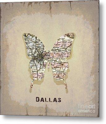 Butterfly Dallas Metal Print by Steffi Louis