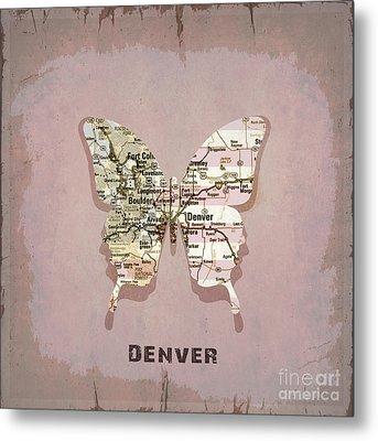 Butterfly Denver Metal Print by Steffi Louis