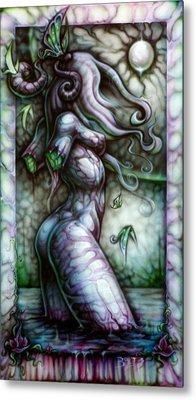 Butterfly Girl Metal Print by David Bollt