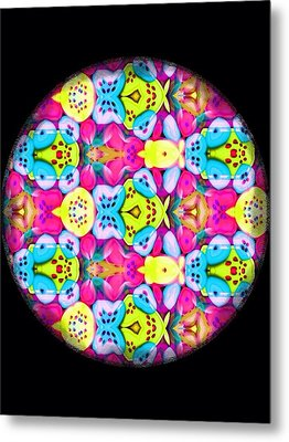Butterfly Mandala Metal Print by Karen Buford