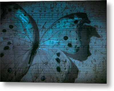 Butterfly Midnight Symphony Metal Print by Marianna Mills