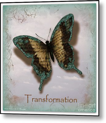 Butterfly Of Transformation Metal Print by Bobbee Rickard
