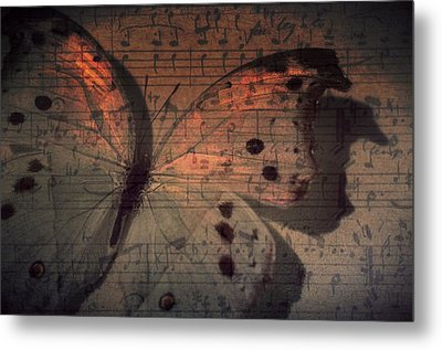 Butterfly Sunset Symphony Metal Print by Marianna Mills