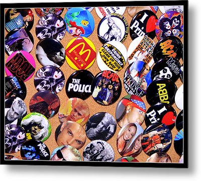 Button Crazy Metal Print by Kip Krause