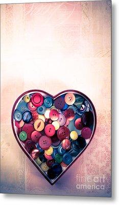 Button Love Metal Print by Jan Bickerton