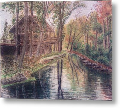 Butts Mill Farm Metal Print by Andrew Pierce