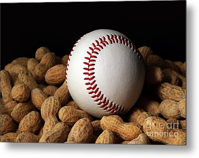 Buy Me Some Peanuts - Baseball - Nuts - Snack - Sport Metal Print by Andee Design