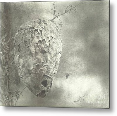 Buzz Off Metal Print by Mary Lynne Powers