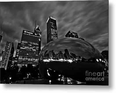 Bw Cloud Gate Metal Print by Will Cardoso