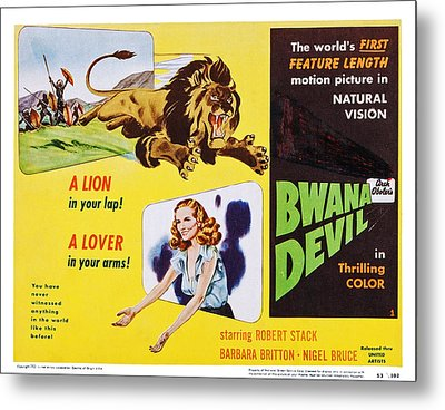 Bwana Devil, Us Lobbycard, Barbara Metal Print by Everett
