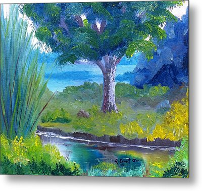 By The Creek Metal Print by Roy Gould