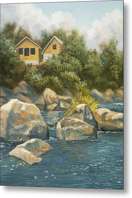 By The River Metal Print by Lucie Bilodeau