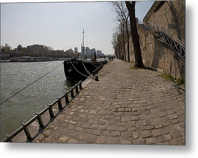By The Seine Metal Print by Art Ferrier