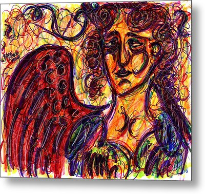Byzantine Angel Metal Print by Rachel Scott