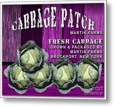 Cabbage Patch Farm Metal Print by Marvin Blaine