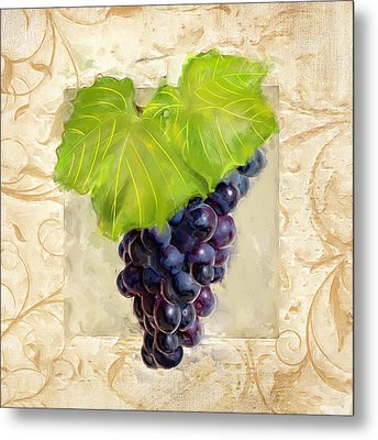 Cabernet Sauvignon II Metal Print by Lourry Legarde