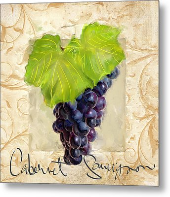 Cabernet Sauvignon Metal Print by Lourry Legarde