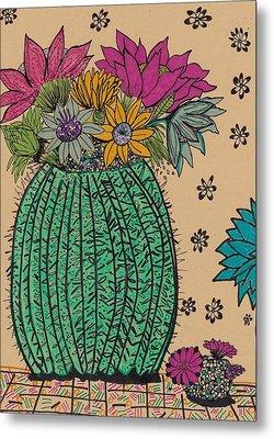 Cactus  Metal Print by Rosalina Bojadschijew