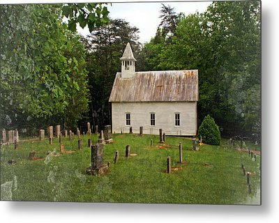 Cades Cove Church Metal Print by Marty Koch