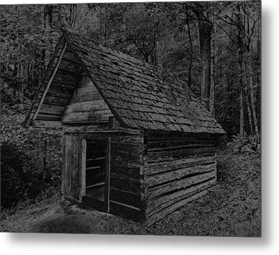Cades Cove Shed Metal Print by Gary Rieks