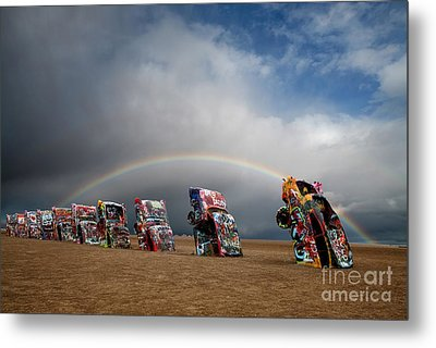Cadillac Ranch Metal Print by Keith Kapple